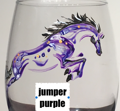 Hand-painted beer pint glasses- equine inspired