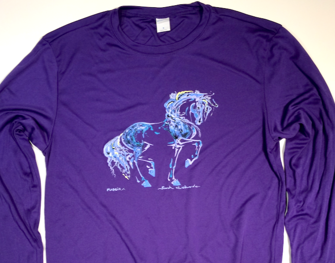 """Madeira"" purple athletic long sleeve shirt"