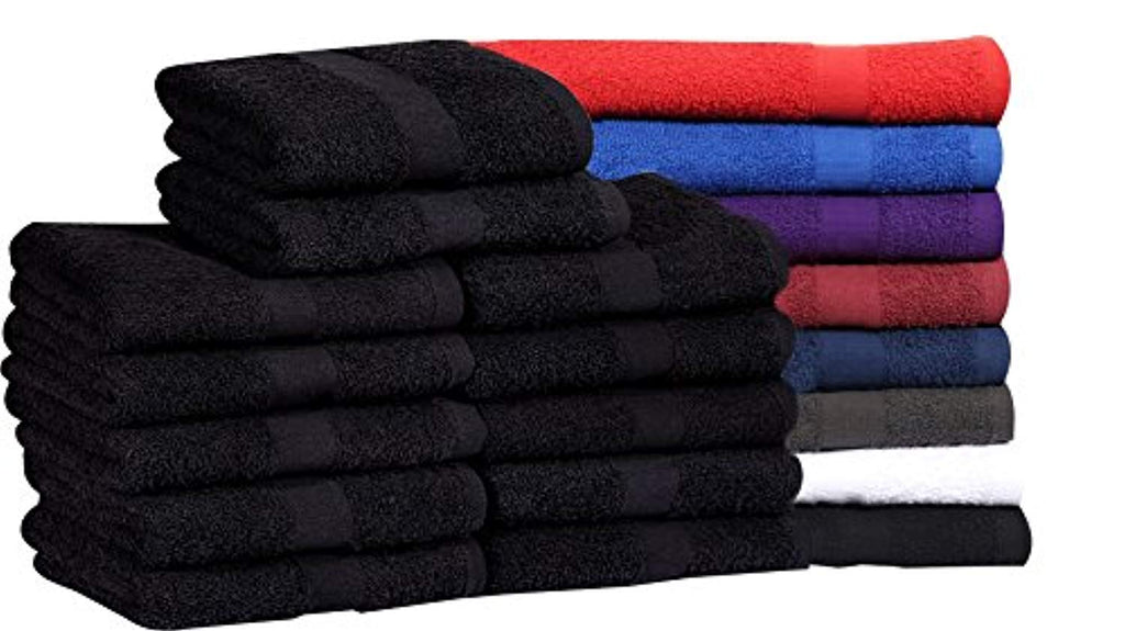 Cotton Salon Towels (16x27 inches) - Soft Absorbent Quick Dry Gym-Salon-Spa Hand Towel - Maz Tex Supply