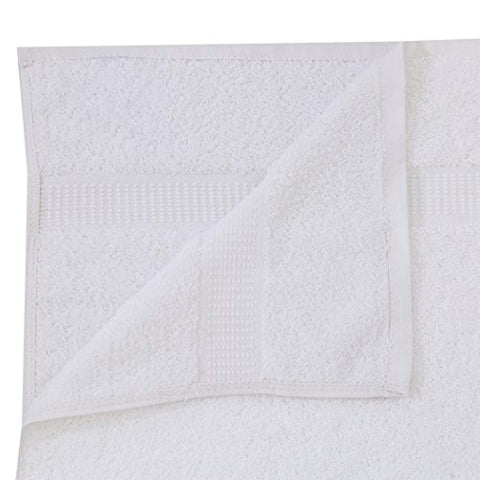 "Premium Luxury Bath Towel (27""x54"",17lb/dz) 100% Cotton Dobby Border - Maz Tex Supply"