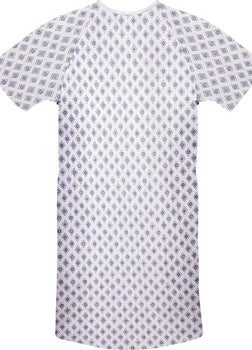 6 Pack Cotton Blend Hospital Gown, Back Tie, 45