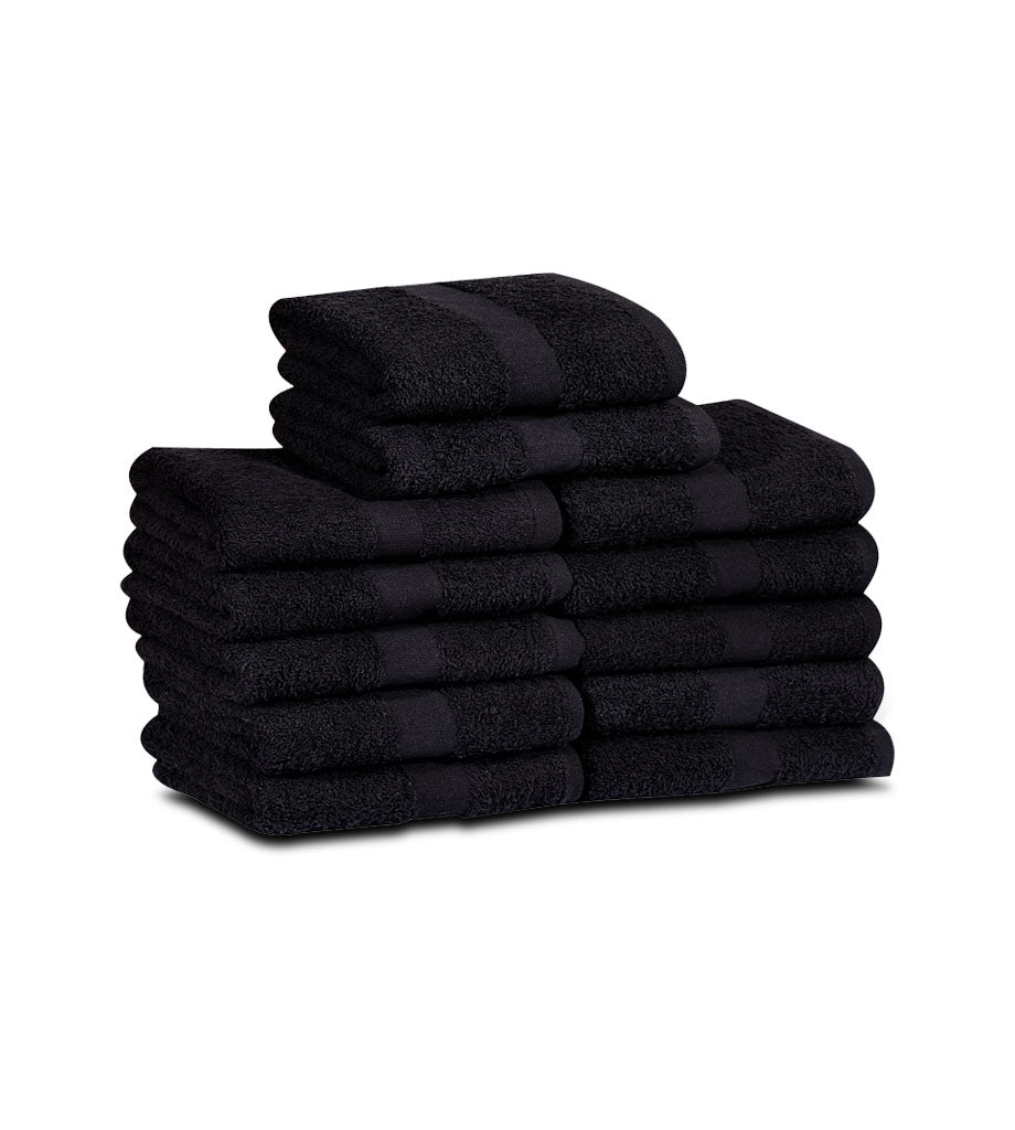 Cotton Bleach Proof Hand Towels (12-Pack,16x27 inches) Salon Towels Gym Towels 3 lb/dz - Maz Tex Supply