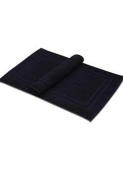 Bath Mat - (2 Pack - Black -22x34 Inch) - 100 % Ringspun Cotton 10 lb/dz