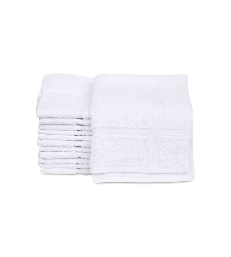 "12 New Cotton Economy Bath Mats (White,18""x25"", 6lb/dz) Fast Drying Commercial Grade Bath Rugs - Maz Tex Supply"