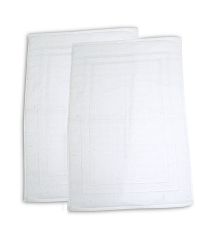12 Pack Premium Hotel Bath Mats Large (White, 22X34) 10lb/dz - Maz Tex Supply
