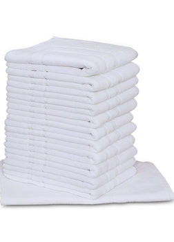 Premium Hotel Bath Mats Large (White, 22X34) 10lb/dz- 5 Dozen Case Pack= 1 Unit 3 lb/dz