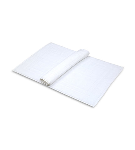 Premium Hotel Bath Mats Large (White, 22X34) 10lb/dz- 5 Dozen Case Pack= 1 Unit 3 lb/dz - Maz Tex Supply