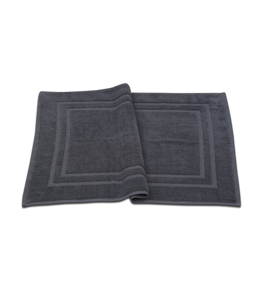 Bath Mat - (2 Pack - Grey -22x34 Inch) - 100 % Ringspun Cotton 10 lb/dz - Maz Tex Supply