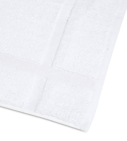 "12 New White 100% Cotton Economy 20""X30"" Hotel Bath MATS -7 lb/dz - Maz Tex Supply"