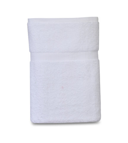 Pack of 4 Premium Bath Towel ( 27 x 54, White) 100% Ring-Spun Cotton Towels 17 lb/dz - Maz Tex Supply