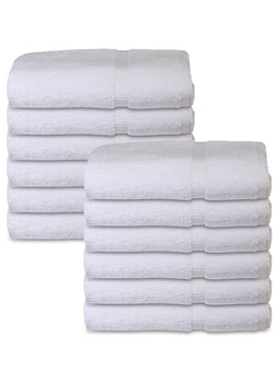 12 Premium Quality 100% Rinspun Cotton Hand Towels ( 16