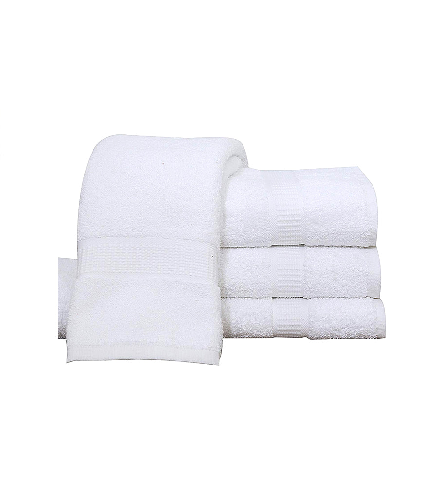 12 White Premium Bath Towel ( 27x54- 17 lb/dz) 100% Ring-Spun Cotton - Maz Tex Supply