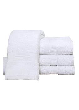 Pack of 4 Premium Bath Towel ( 27 x 54, White) 100% Ring-Spun Cotton Towels 17 lb/dz