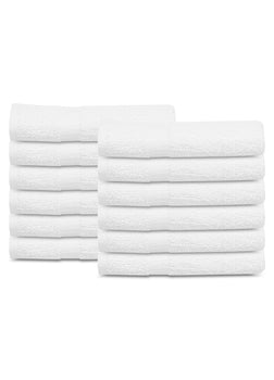 12 New White 20X40 100% Cotton Bath Towels Soft & Quick Dry 5 lb/dz - Maz Tex Supply
