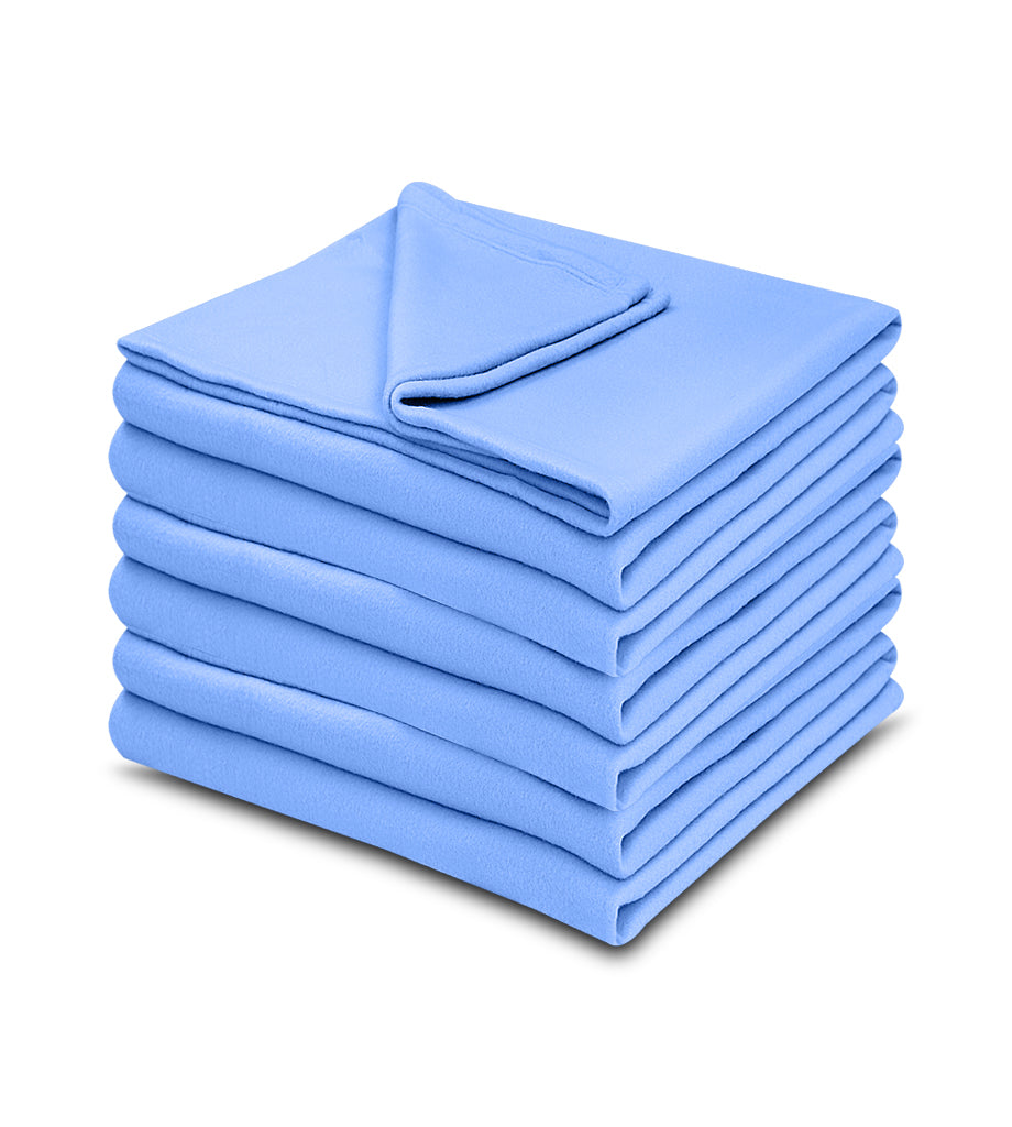 1 pack Light Blue Color 100% Micro Poly Fleece -MazTex Lux Blankets - Maz Tex Supply
