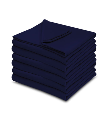 1 pack Navy Blue Color 100% Micro Poly Fleece -MazTex Lux Blankets - Maz Tex Supply