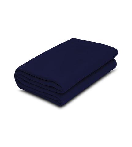 Navy Blue 100% Micro Poly Fleece -MazTex Lux Blankets - 12 Pcs Case Pack =1 Unit - Maz Tex Supply