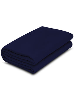 1 pack Navy Blue Color 100% Micro Poly Fleece -MazTex Lux Blankets