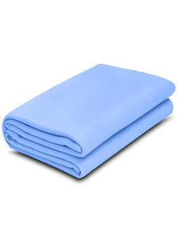 1 pack Light Blue Color 100% Micro Poly Fleece -MazTex Lux Blankets