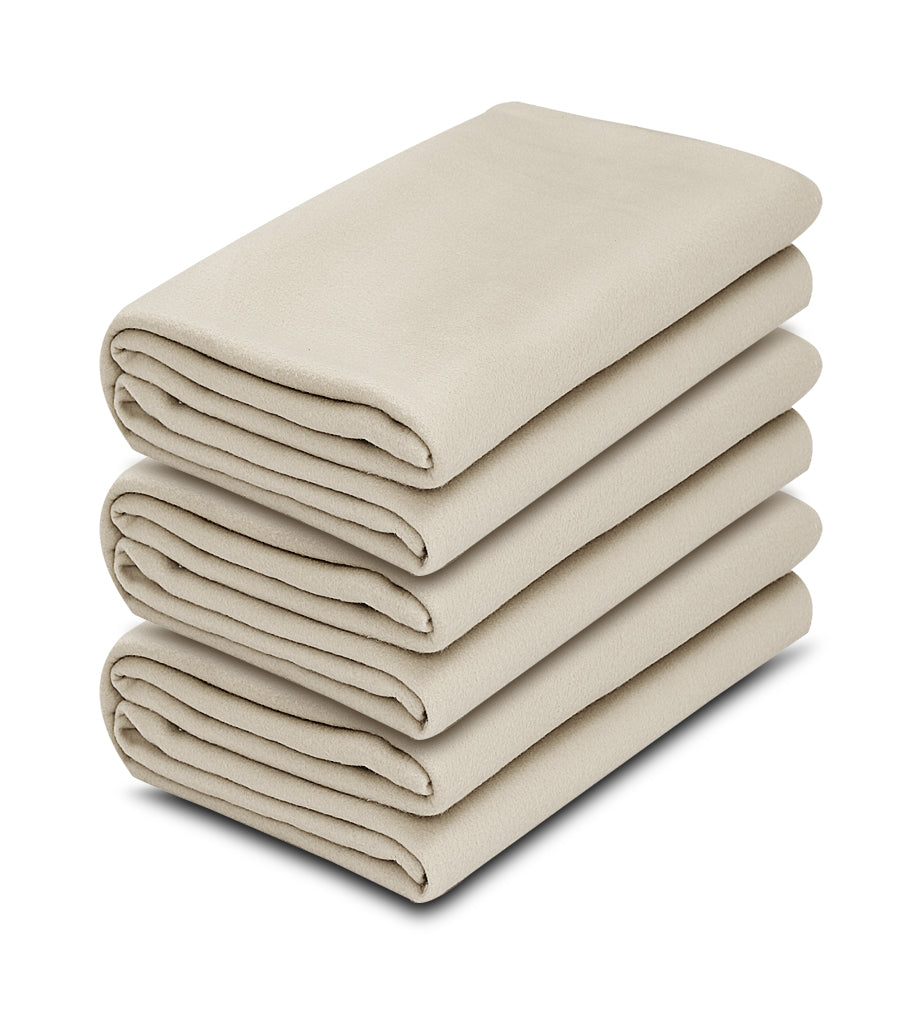 1 pack Ivory Color 100% Micro Poly Fleece -MazTex Lux Blankets - Maz Tex Supply