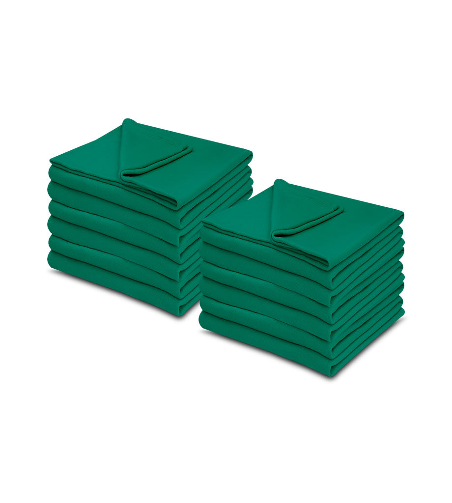 Jade Color 100% Micro Poly Fleece -MazTex Lux Blankets - 12 Pcs Case Pack =1 Unit - Maz Tex Supply