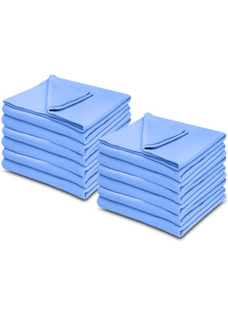 Light Blue 100% Micro Poly Fleece -MazTex Lux Blankets - 12 Pcs Case Pack =1 Unit