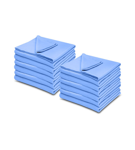 Light Blue 100% Micro Poly Fleece -MazTex Lux Blankets - 12 Pcs Case Pack =1 Unit - Maz Tex Supply