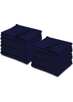 Navy Blue 100% Micro Poly Fleece -MazTex Lux Blankets - 12 Pcs Case Pack =1 Unit