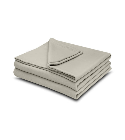 Tan Color 100% Micro Poly Fleece -MazTex Lux Blankets - 12 Pcs Case Pack =1 Unit - Maz Tex Supply
