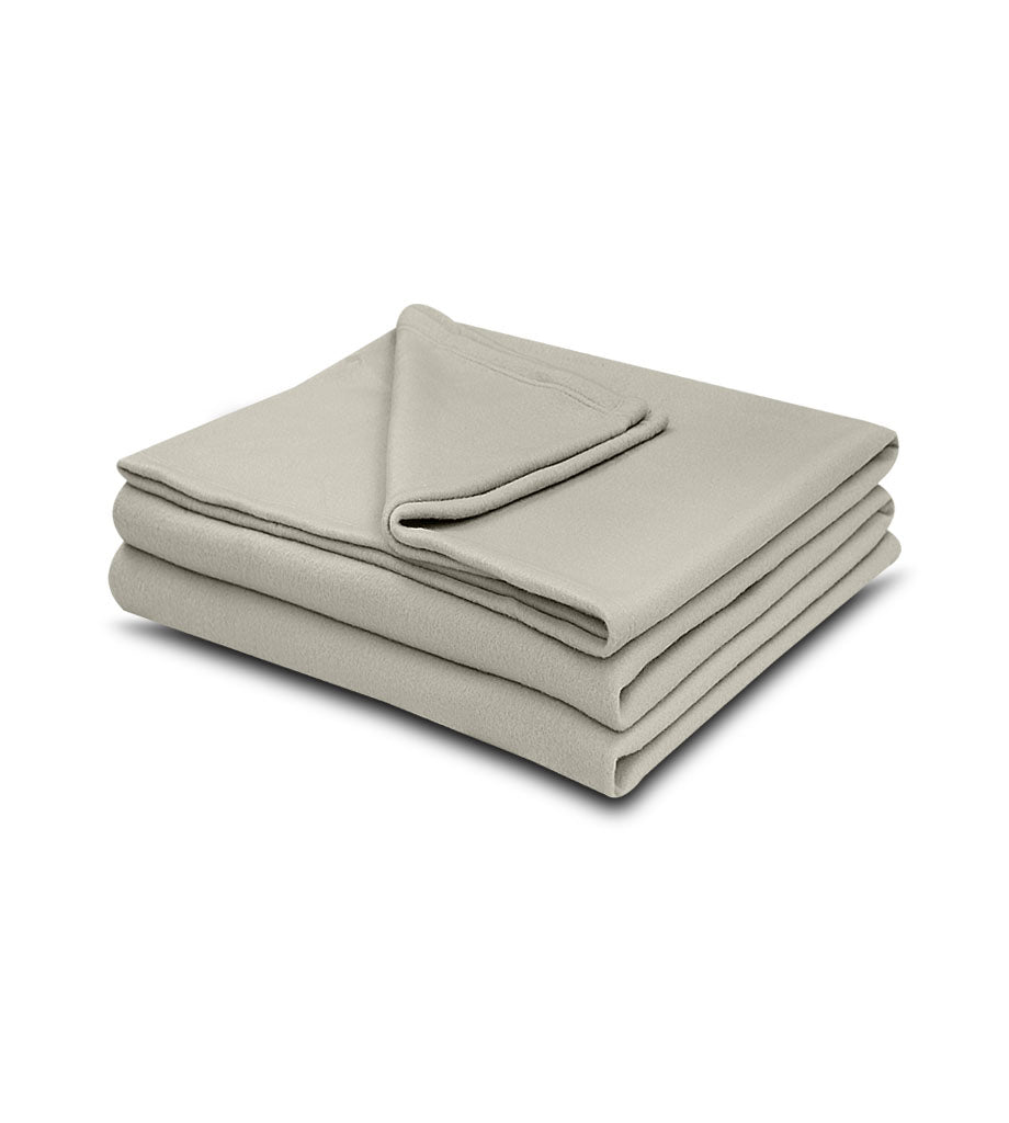 1 pack Tan Color 100% Micro Poly Fleece -MazTex Lux Blankets - Maz Tex Supply