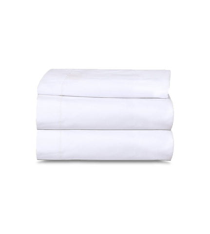 6 Pack White Flat Bed Sheets T-200-PolyCotton -  Hotel Quality - Maz Tex Supply