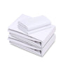 Image of Poly-Cotton Flat Bed Sheets Tone n Tone White T-250 Hotel Quality - 1 Unit=2 Dozen Case Pack - Maz Tex Supply