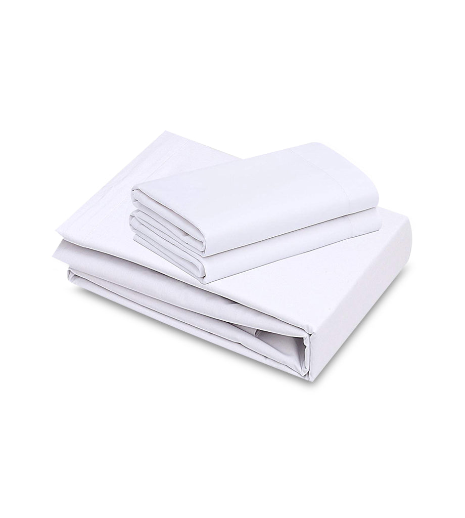 12 Pack White PolyCotton Fitted Sheets T-250 Hotel Quality - Maz Tex Supply