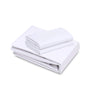 Image of 12 Pack White PolyCotton Fitted Sheets T-200 Hotel Quality - Maz Tex Supply