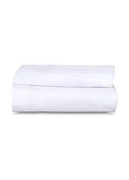 1 Pack White Flat Bed Sheets T-200-PolyCotton - Hotel Quality
