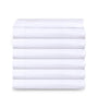 Image of 6 Pack White PolyCotton Fitted Sheets T-200 Hotel Quality - Maz Tex Supply
