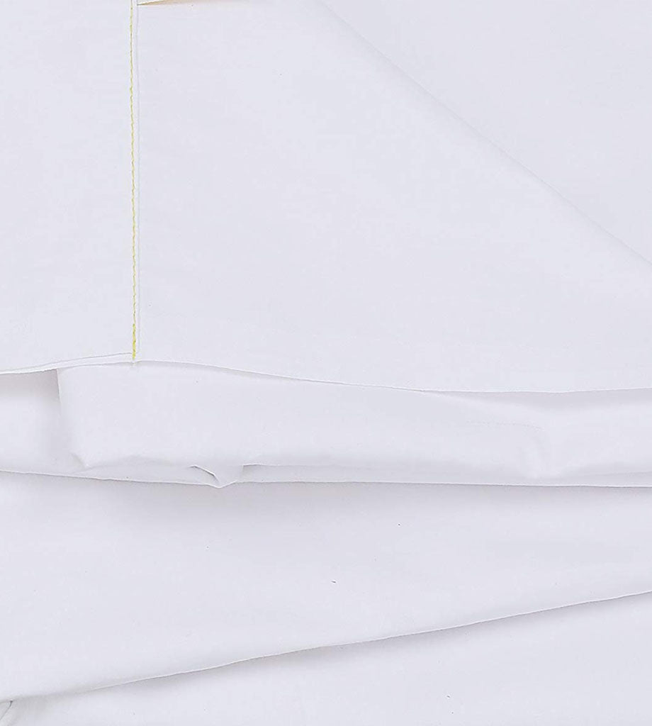 12 Pack White Flat Bed Sheets T-200-PolyCotton -  Hotel Quality - Maz Tex Supply