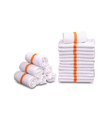 "60 New 100% Cotton White 16""x19"" Restaurant Bar Mops Kitchen Towels - Maz Tex Supply"