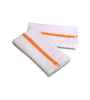 "Image of 24 Dozen Case Pack Gold Stripe 16""x19"" Restaurant Bar Mops Kitchen Towels 100% Cotton - Maz Tex Supply"