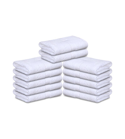12 Premium Hotel Quality Large Hand Towels ( White -16 x 30 inches) - 4lb / dozen - Maz Tex Supply