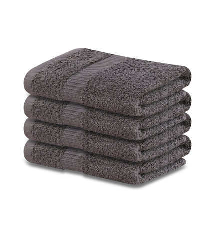 12 Premium Hotel Quality Large Hand Towels ( Grey-16x30 inches) -4 lb/dz - Maz Tex Supply