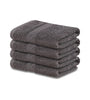 "Image of 4-Pack Grey Hand Towels (16""x30"") 100% RingSpun Cotton 4 lb/dz - Maz Tex Supply"