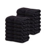 Image of 12 Premium Hotel Quality Large Hand Towels ( Black -16x30 inches) - 4lb/dz - Maz Tex Supply