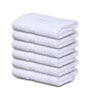 Image of 12 Premium Hotel Quality Large Hand Towels ( White -16 x 30 inches) - 4lb / dozen - Maz Tex Supply