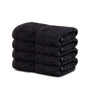 "Image of 4-Pack Black Hand Towels (16""x30"") 100% RingSpun Cotton 4 lb/dz - Maz Tex Supply"