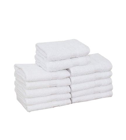 "4-Pack White Towels (16""x30"") 100% RingSpun Cotton 4 lb/dz - Maz Tex Supply"
