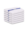 Image of 12 Bath Towels 22X44 Blue Center Stripe 100% Cotton Economy Soft Towels 6 lb/dz - Maz Tex Supply