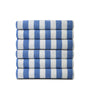 Image of Pack of 12 Pool Towels Blue Stripes ( 30x66 Inch) 15 lb/dz - Maz Tex Supply