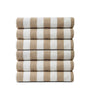 Image of Pack of 12 Pool Towels Beige Stripes ( 30x66 Inch) 15 lb/dz - Maz Tex Supply