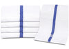 "Image of 12 Pack Blue Stripe Pool Towels (24""x 50""- White) Pure Cotton 10 lb/dz - Maz Tex Supply"